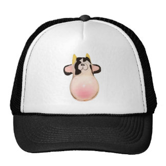 Cow pink smiles ridiculous trucker hats