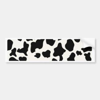 Cow Print Bumper Sticker