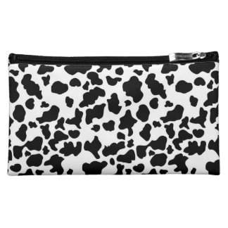 Cow Print Cosmetic Bag