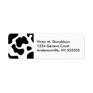 Cow Print Personalized Return Address Labels