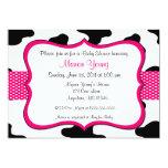 Cow Print Pink Baby Shower or Birthday Invitation 13 Cm X 18 Cm Invitation Card