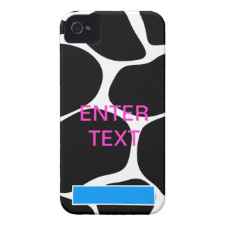 Cow print pink text iPhone 4 covers