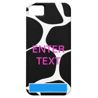 Cow print pink text iPhone 5 covers