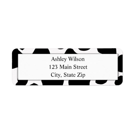 Cow Print Return Address Labels