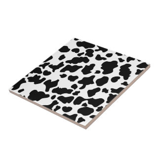 Cow Print Small Square Tile
