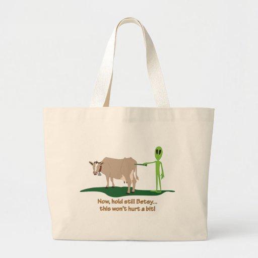 Cow Probe Canvas Bag