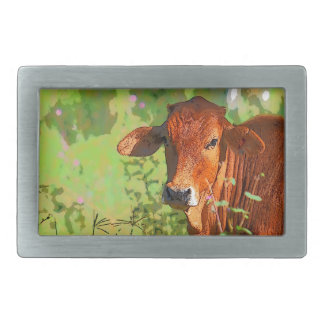 COW QUEENSLAND AUSTRALIA ART BELT BUCKLES