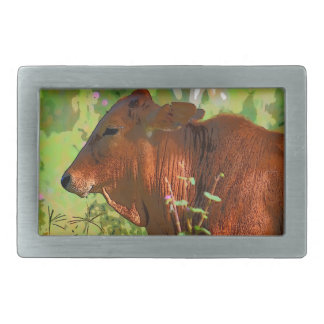 COW QUEENSLAND AUSTRALIA ART RECTANGULAR BELT BUCKLES