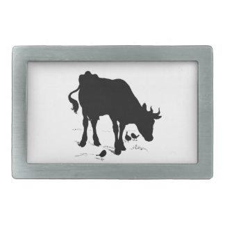 cow rectangular belt buckle