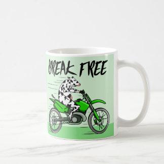 Cow riding A Motorbike Coffee Mug