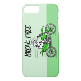 Cow Riding A Motorcyle iPhone 7 Case