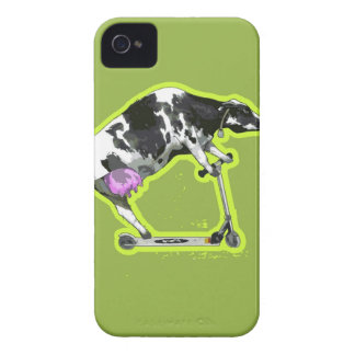 Cow Riding a Scooter Case-Mate iPhone 4 Cases