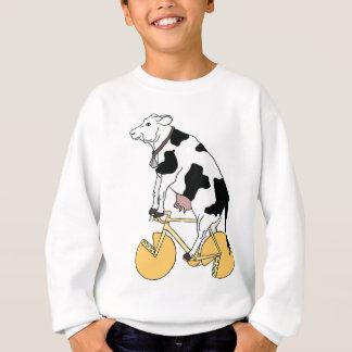 Cow Riding Bike With Cheese Wheel Wheels Sweatshirt
