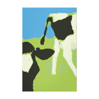 Cow´s head and rear end canvas print