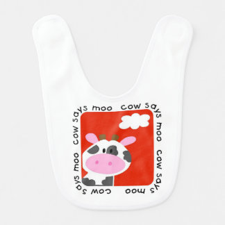 Cow Says Moo Bib