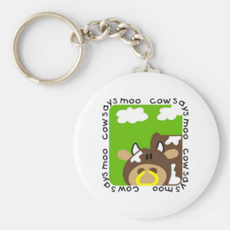 Cow Says Moo Tshirts and Gifts Key Chains