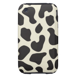 Cow Skin Cow Pattern Tough iPhone 3 Case