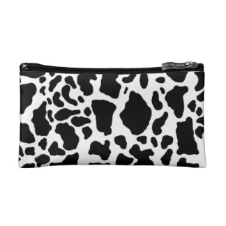 Cow skin pattern cosmetic bags