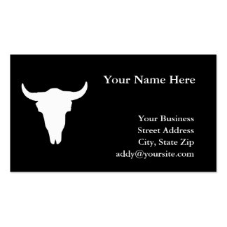 Cow Skull Pack Of Standard Business Cards