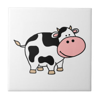 Cow Small Square Tile