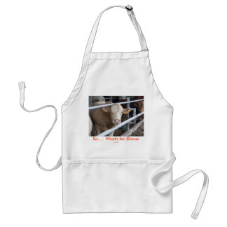 Cow, So....  What's for Dinner ?? Standard Apron