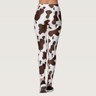 Cow Spots Cowhide Animal Country Western Cowgirl Leggings