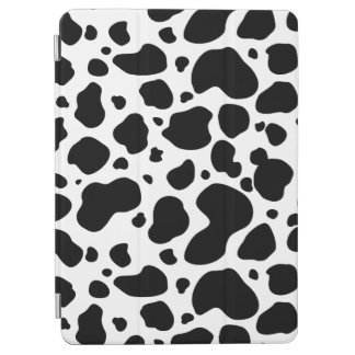 Cow Spots Pattern Black and White Animal Print iPad Air Cover