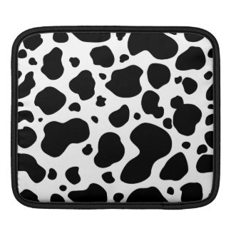 Cow Spots Pattern Black and White Animal Print iPad Sleeve
