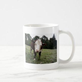 Cow Sticking Out Tongue Basic White Mug