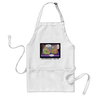 Cow-Temporary Theater Funny Cows Gifts & Tees Standard Apron