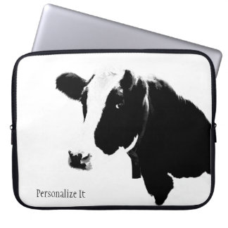 Cow Thoughts Laptop Sleeve