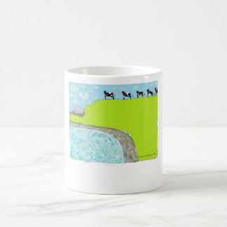 Cow-tipping and the deep blue sea coffee mug