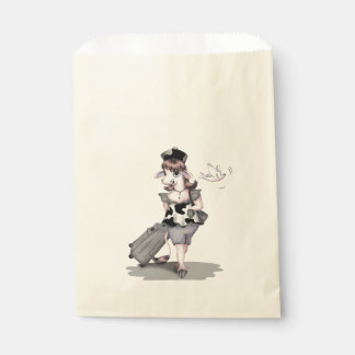 COW TRAVEL  bag Ecru Favor Favour Bags