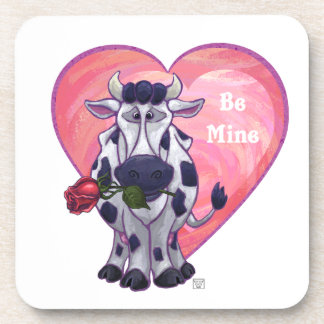 Cow Valentine's Day Coasters