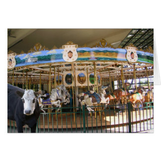 Cow Visits the Carousel Note Card