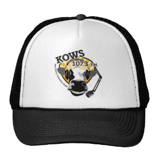 Cow with microphone KOWS trucker hat
