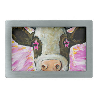 Cow with Stars in her Eyes Belt Buckles