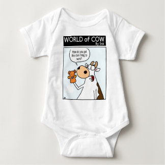 Cow With Teddy Puppet Baby Bodysuit