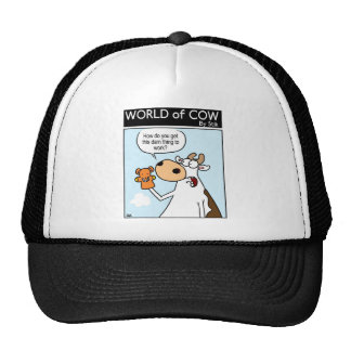 Cow With Teddy Puppet Cap
