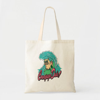 Cowapuga Dude! Surfing Pug Dog Lovers Tote Bag