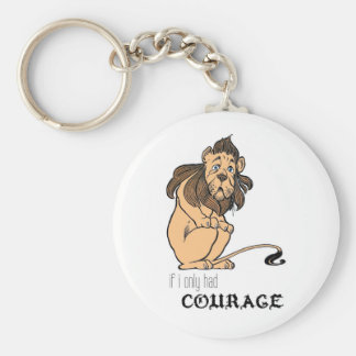 """Cowardly Lion: """"If I Only Had Courage"""" Key Ring"""