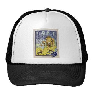 Cowardly Lion Wizard of Oz Book Page Cap