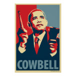Cowbell - Obama parody poster