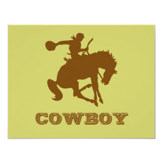 Cowboy 11 Cm X 14 Cm Invitation Card