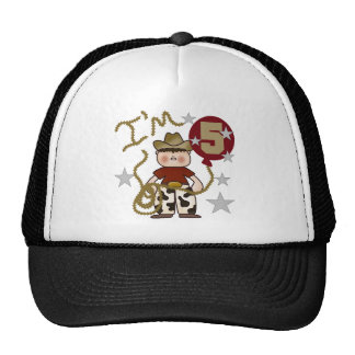 Cowboy 5th Birthday T-shirts and Gifts Trucker Hat