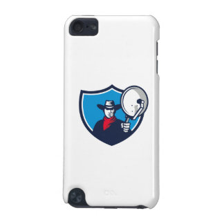 Cowboy Aiming Satellite Dish Crest Retro iPod Touch 5G Cases