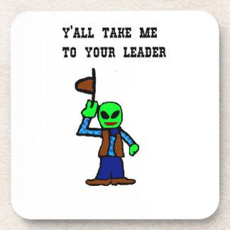 Cowboy Alien Cartoon Beverage Coaster