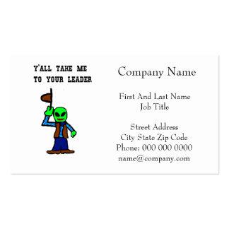 Cowboy Alien Cartoon Business Card Template