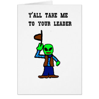 Cowboy Alien Cartoon Cards