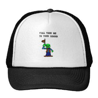 Cowboy Alien Cartoon Mesh Hat